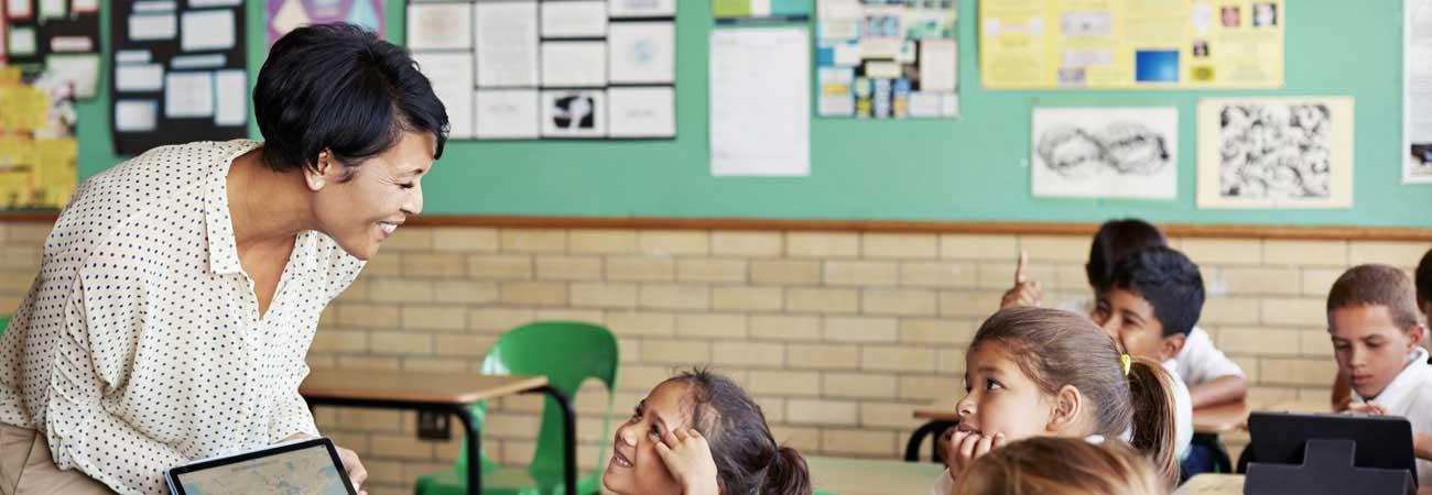 Teacher teaches students